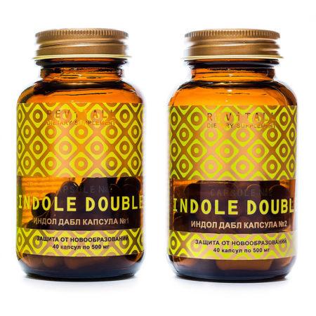 Источник индолов для поддержки здоровья репродуктивных органов. Revitall INDOLE DOUBLE (2 упаковки по 40 капсул)