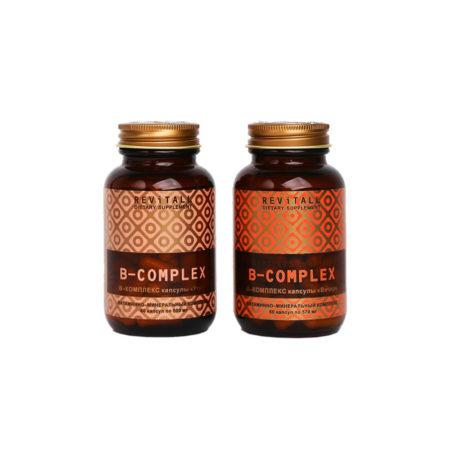Витамины группы В. Revitall B-Complex (2 упаковки по 60 капсул)