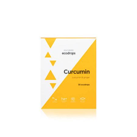 Карамель леденцовая Healthberry Ecodrops Curcumin, 30 шт