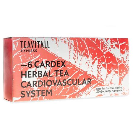 Чайный напиток для сердечно-сосудистой системы TeaVitall Express Cardex 6