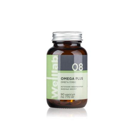 Источник омега-3 Welllab OMEGA PLUS, 90 капсул