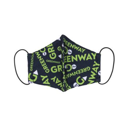 Многоразовая текстильная маска для лица, паттерн «Greenway», размер М