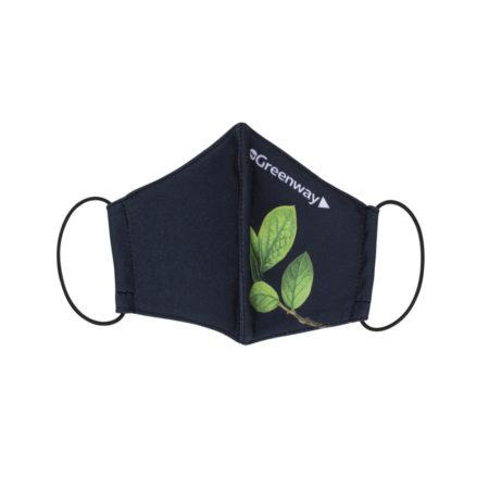 Многоразовая текстильная маска для лица, принт Лист, размер M